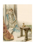Illustration of Juliet Watching Romeo Depart Giclee Print by Oreste Cortazzo