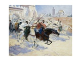 Horsemen Leaving the City Giclee Print by Ulpiano Checa Y Sanz