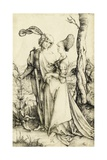 Promenade (Young Couple Threatened by Death) Giclee Print by Albrecht Dürer