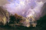 Rocky Mountain Landscape Giclée-tryk af Albert Bierstadt