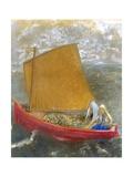 La Voile Jaune (The Yellow Sail) Giclee Print by Odilon Redon
