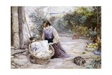 The New Baby Giclee Print by Myles Birket Foster