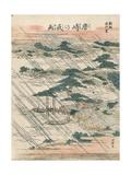 Evening Rain at Karasaki Giclee Print by Katsushika Hokusai