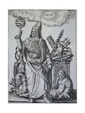 Hermes Trismegistus Book Illustration Giclee Print by Johann Theodor de Bry