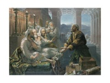 Judas and the Thirty Pieces of Silver for Betraying Christ Giclée-Druck von Hubert von Herkomer