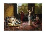 A Harem Scene Giclee Print by Giacomo Mantegazza