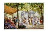 A Parisian Flower Market Giclee Print by Eugene Auguste Francois Deully