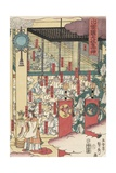 Gathering of Gods at the Great Shrine at Izumo Giclee Print by Utagawa Sadahide
