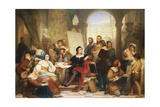 The Artist Raphael in His Studio Giclee Print by Nicaise De Keyser