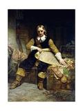 Oliver Cromwell by Emanuel Gottlieb Leutze Giclee Print by Emanuel Leutze