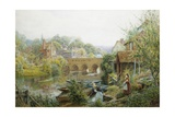 A Summer's Day, Abingdon, Oxfordshire, England Giclee Print by Charles Gregory