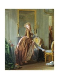 An Elegant Woman Dresses Giclee Print by Michel Garnier