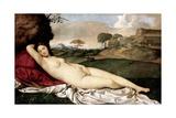 Sleeping Venus Reproduction procédé giclée par  Giorgione