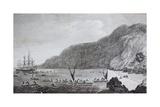 18th Century Engraving of Karakakooa Bay Where Captain James Cook Was Killed Giclee Print