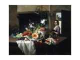 Preparations for Dinner Giclee Print by David Emil Joseph de Noter