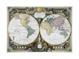 Mappe Monde Giclee Print by Rigobert Bonne