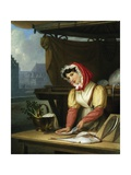 The Fish Seller Giclee Print by Charles Picque