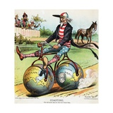 Coasting Political Cartoon Giclee Print by Victor Gillam