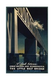 The Little Belt Bridge Poster Giclee Print by Aage Rasmussen
