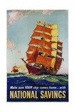 National Savings Poster Giclee Print by L.A. Wilcox