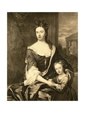 Portrait of Queen Anne and Her Son William, Duke of Gloucester Giclee Print by Michael Dahl