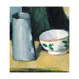 Bowl and Milk-Jug Giclee Print by Paul Cézanne