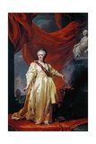 Portrait of Catherine II the Legislatress in the Temple Devoted to the Godess of Justice Giclee Print by Dmitry Levitzky