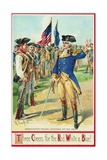 Washington Taking Command of the Army Postcard Giclee Print by Richard Veenfliet