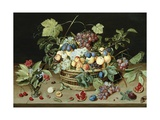 Still Life with a Basket of Fruit Giclee Print by Isaac Soreau