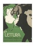 La Lettura Cover Giclée-tryk af Marchello Dudovich