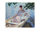 Mother and Child in a Boat Giclee Print by Edmund Charles Tarbell
