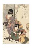Girl's Festival (Hinamatsuri) Gicléetryck av Kitagawa Utamaro