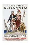 Side by Side - Britannia! Poster Giclee Print by James Montgomery Flagg