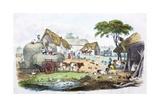 A Regency Farmyard Giclee Print