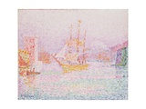 The Harbour at Marseilles Gicléetryck av Paul Signac