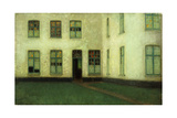 Corner of the Beguines Houses Gicleetryck av Henri Le Sidaner
