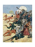 Battle of Fort Dearborn in the War of 1812 Giclee Print
