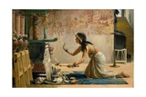 The Obsequies of an Egyptian Cat Giclee Print by John Reinhard Weguelin