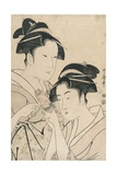 Osen of Kagiya and Ohisa of Takashima Giclee Print by Kitagawa Utamaro