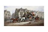 A Stagecoach Settting Out Giclee Print by John Charles Maggs