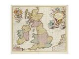 Britanniae Tabula Giclee Print by Pieter Schenk