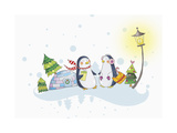 Christmas and Winter Scape Giclee Print