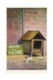 Beware of the Dog Postcard Giclee Print