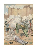 Illustration of the Taking of the Bastille Giclee Print by Jacques Onfroy de Breville