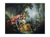 The Four Seasons: Spring Gicléetryck av Francois Boucher
