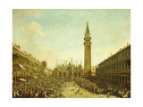 The Piazza San Marco, on the Doge's Coronation Day Giclee Print by Francesco Guardi