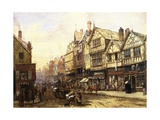 Bridge Street, Chester, England Giclee Print by Louise J. Rayner