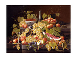 Still Life with Fruit and Champagne Giclee Print by Severin Roesen