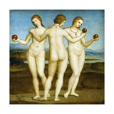 Les trois Grâces Impression giclée par  Raphael