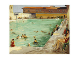 The Peoples' Pool, Palm Beach Gicléetryck av Sir John Lavery